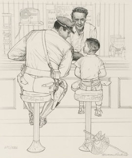 Runaway (Black And White Artist Proof) 1958 Limited Edition Print by Norman Rockwell