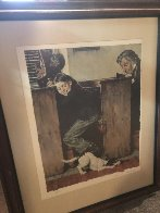 In Church AP 1973 Limited Edition Print by Norman Rockwell - 2