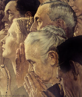 Freedom To Worship War Poster 1943 Limited Edition Print - Norman Rockwell