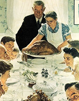 Freedom From Want War Poster  1943 Limited Edition Print by Norman Rockwell