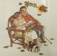 Four Ages of Love - Fondly Do We Remember AP 1977 Limited Edition Print by Norman Rockwell - 4