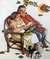 Four Ages of Love - Fondly Do We Remember AP 1977 Limited Edition Print by Norman Rockwell - 1