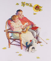Four Ages of Love - Fondly Do We Remember AP 1977 Limited Edition Print by Norman Rockwell - 3