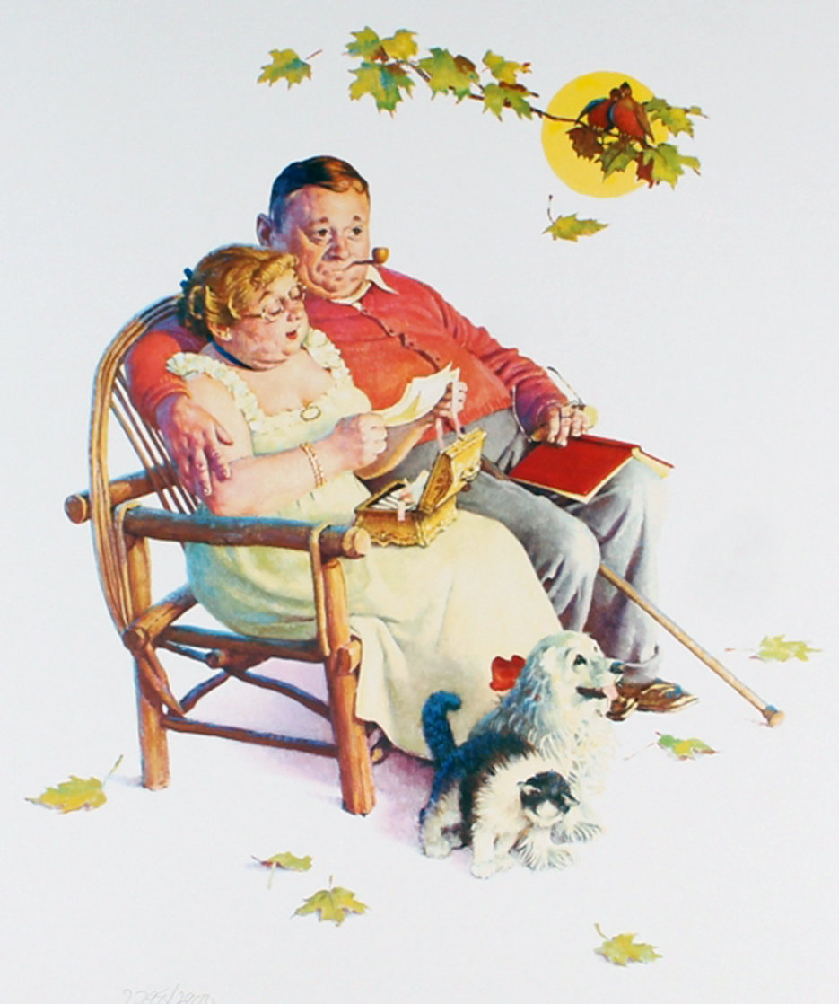 Four Ages of Love - Fondly Do We Remember AP 1977 Limited Edition Print by Norman Rockwell