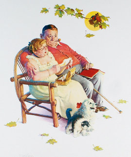 Four Ages of Love - Fondly Do We Remember AP 1977 Limited Edition Print - Norman Rockwell