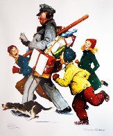 Jolly Postman 2005 Limited Edition Print by Norman Rockwell - 0