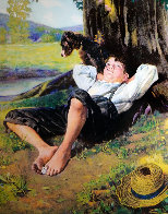 Boy Under Tree 2005 Limited Edition Print by Norman Rockwell - 0