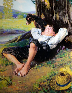 Boy Under Tree 2005 Limited Edition Print - Norman Rockwell