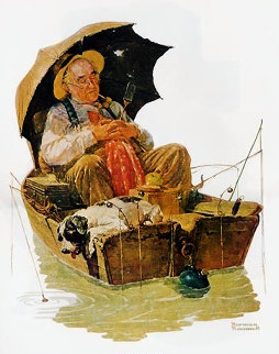 Gone Fishin 2005 Limited Edition Print - Norman Rockwell
