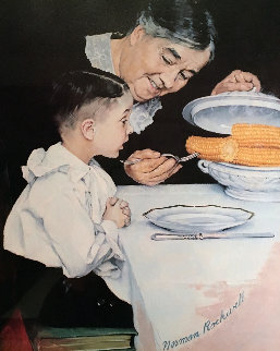 City Boy, Country Boy, Last Ear of Corn, Childhood Memories Suite of 4 Limited Edition Print by Norman Rockwell