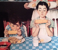 City Boy, Country Boy, Last Ear of Corn, Childhood Memories Suite of 4 Limited Edition Print by Norman Rockwell - 1