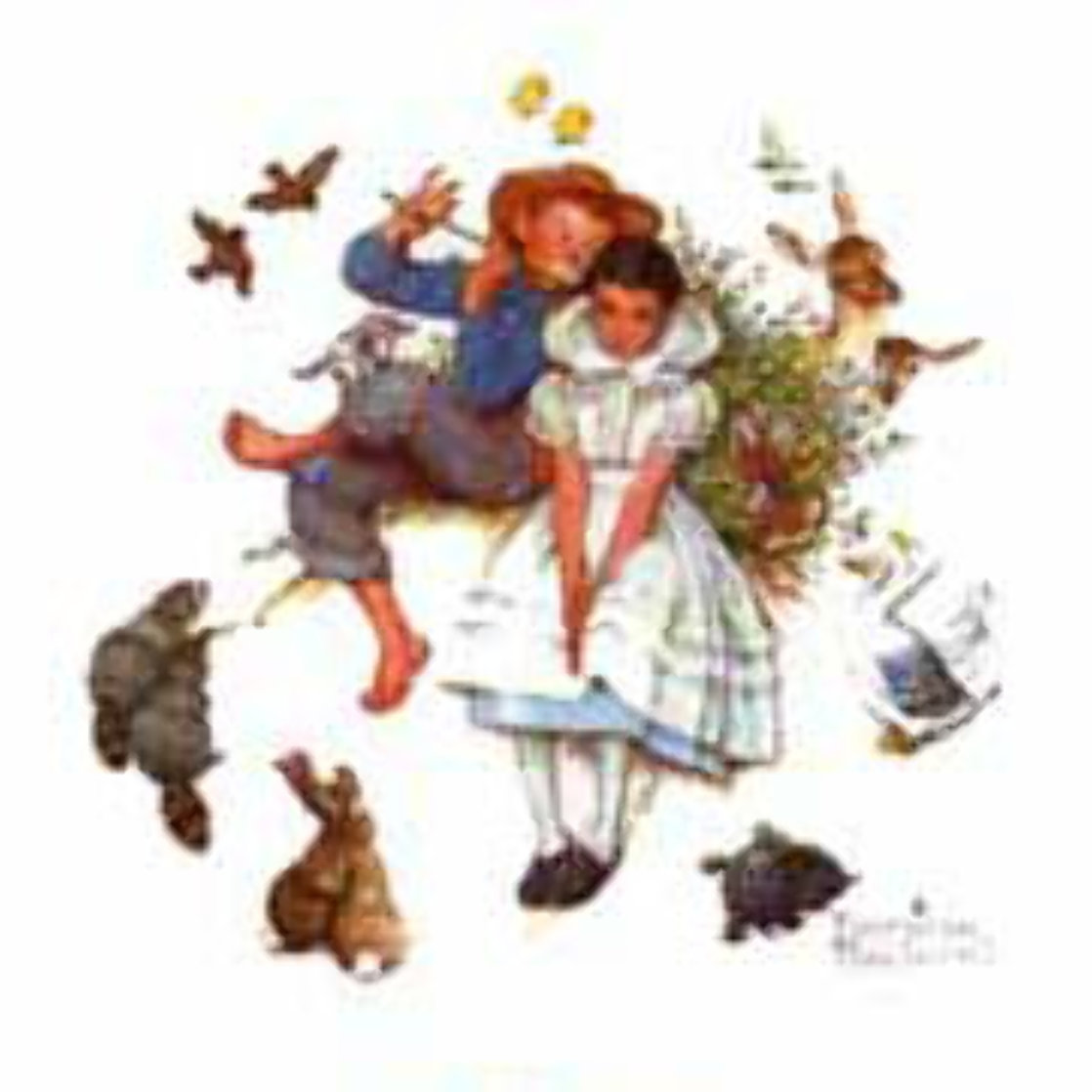 Spring, from Four Ages of Love Suite 1977 Limited Edition Print by Norman Rockwell