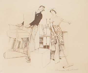 Moving AP 1980 Limited Edition Print - Norman Rockwell