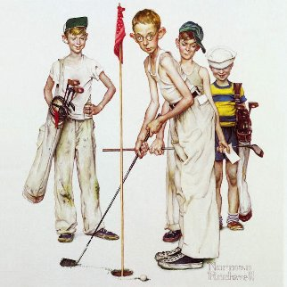 Four Sporting Boys: Golf 2012 Limited Edition Print by Norman Rockwell