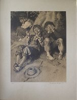 Tom Sawyer, First Smoke AP 1935 Limited Edition Print by Norman Rockwell - 6