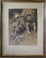 Tom Sawyer, First Smoke AP 1935 Limited Edition Print by Norman Rockwell - 7