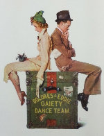 Gaiety Dance Team 1973 Limited Edition Print by Norman Rockwell - 0