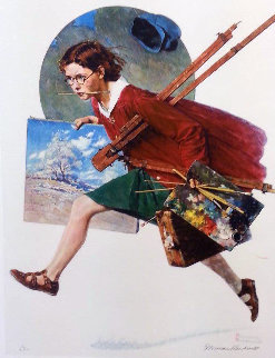 Wet Paint 1973 Limited Edition Print - Norman Rockwell