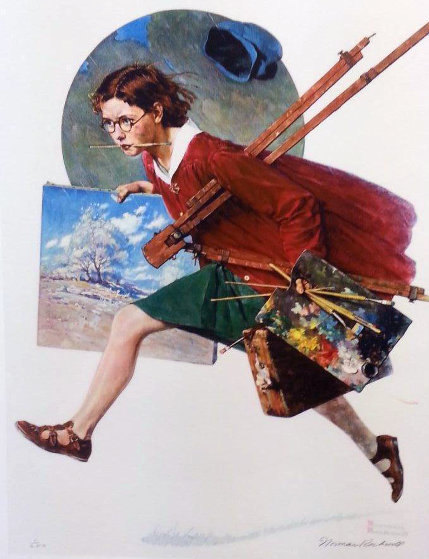 Wet Paint 1973 Limited Edition Print by Norman Rockwell