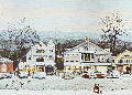 Stockbridge Main Street Christmas  1972 HS Limited Edition Print - Norman Rockwell