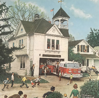 New American Lafrance is Here 1971 HS Limited Edition Print by Norman Rockwell