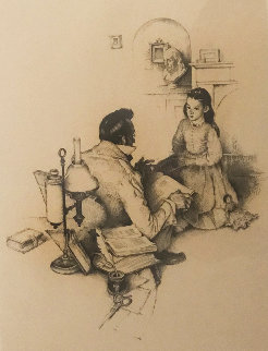 Most Beloved American Writer 1975 Limited Edition Print - Norman Rockwell