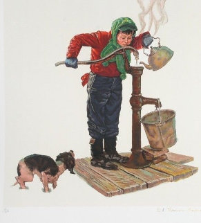 Winter Morning - Encore Edition 1977 Limited Edition Print by Norman Rockwell