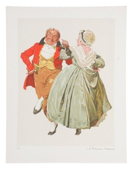 Dancing Partners Encore Edition Limited Edition Print by Norman Rockwell