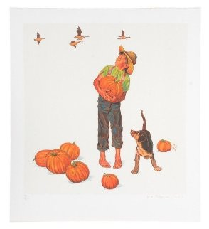 Autumn''s Harvest - Encore Edition Limited Edition Print by Norman Rockwell