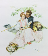Tender Bloom AP 1955 Limited Edition Print by Norman Rockwell - 0
