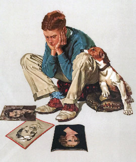 Starstruck  AP 1976 Limited Edition Print - Norman Rockwell
