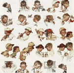 A Day in the Life of a Boy AP 1977 Limited Edition Print - Norman Rockwell