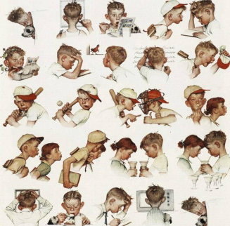 A Day in the Life of a Boy AP 1977 Limited Edition Print by Norman Rockwell