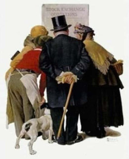 Stock Exchange 1977 Limited Edition Print by Norman Rockwell