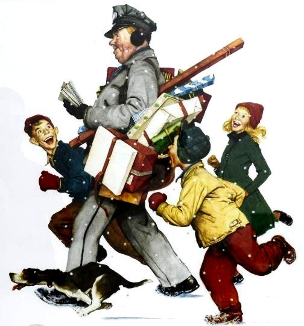 Jolly Postman 2005 Limited Edition Print by Norman Rockwell