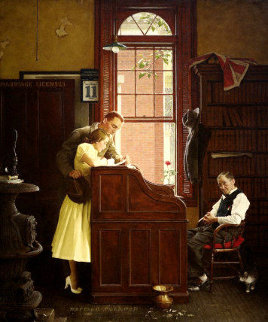 Marriage License 1979 Limited Edition Print - Norman Rockwell