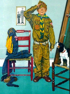 Can't Wait 1976 Limited Edition Print - Norman Rockwell