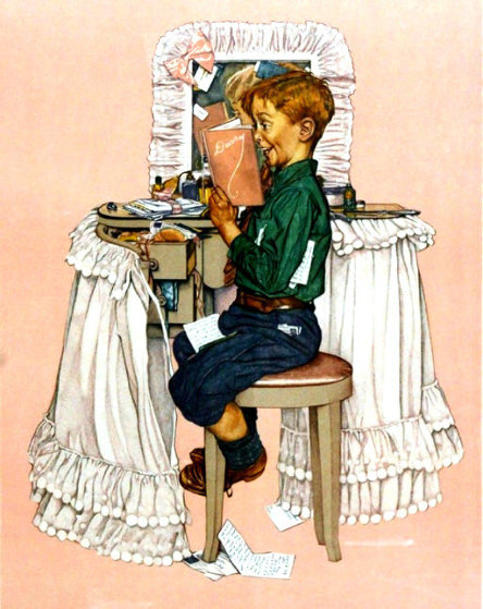 Secrets AP 1976 Limited Edition Print by Norman Rockwell