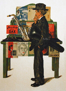 Jazz It Up AP 1979 Limited Edition Print by Norman Rockwell