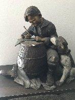 Pen Pals Bronze Sculpture 21 in Sculpture by Norman Rockwell - 1