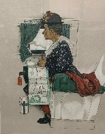 First Airplane Ride AP 1976 Limited Edition Print by Norman Rockwell - 2