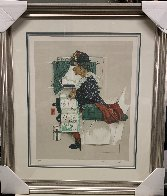 First Airplane Ride AP 1976 Limited Edition Print by Norman Rockwell - 1
