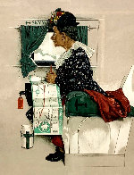 First Airplane Ride AP 1976 Limited Edition Print by Norman Rockwell - 0