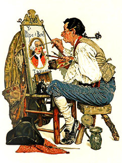 Ye Pipe and Bowl AP 1976 Limited Edition Print by Norman Rockwell