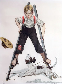 Boy on Stilts 1976 Limited Edition Print - Norman Rockwell