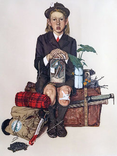 Back From Camp AP 1976 Limited Edition Print - Norman Rockwell