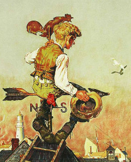 Under Sail 1976 Limited Edition Print - Norman Rockwell