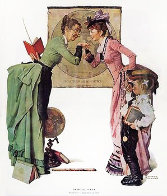 School Days Limited Edition Print by Norman Rockwell - 0