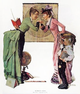 School Days Limited Edition Print - Norman Rockwell