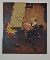 Artist Daughter AP: Encore Edition Limited Edition Print by Norman Rockwell - 1